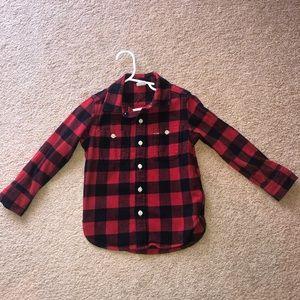Gap flannel like shirt barely worn